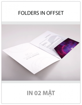 FOLDERS IN OFFSET (02 MẶT)